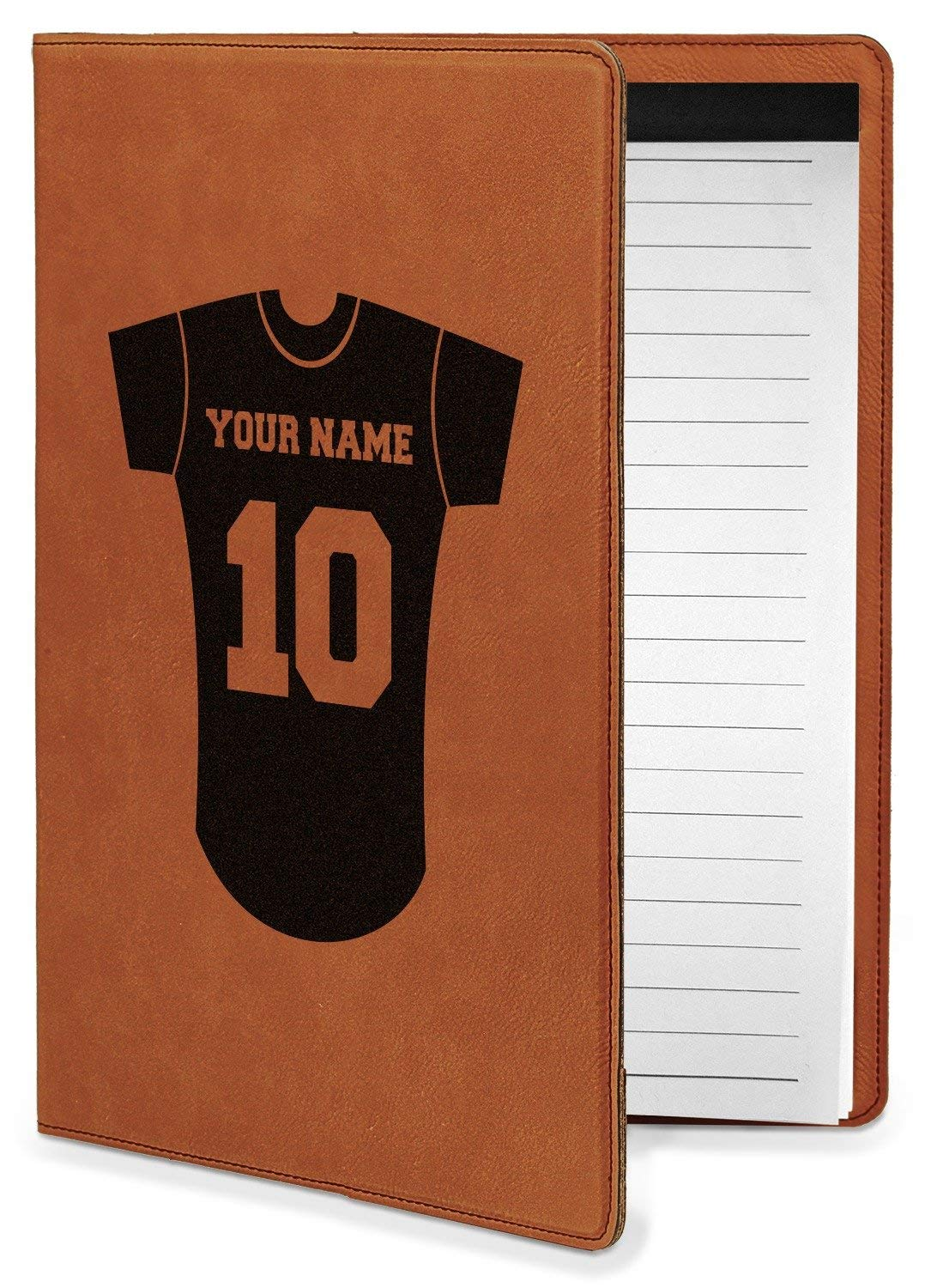 Baseball Jersey Leatherette Portfolio with Notepad - Small - Single Sided (Personalized)