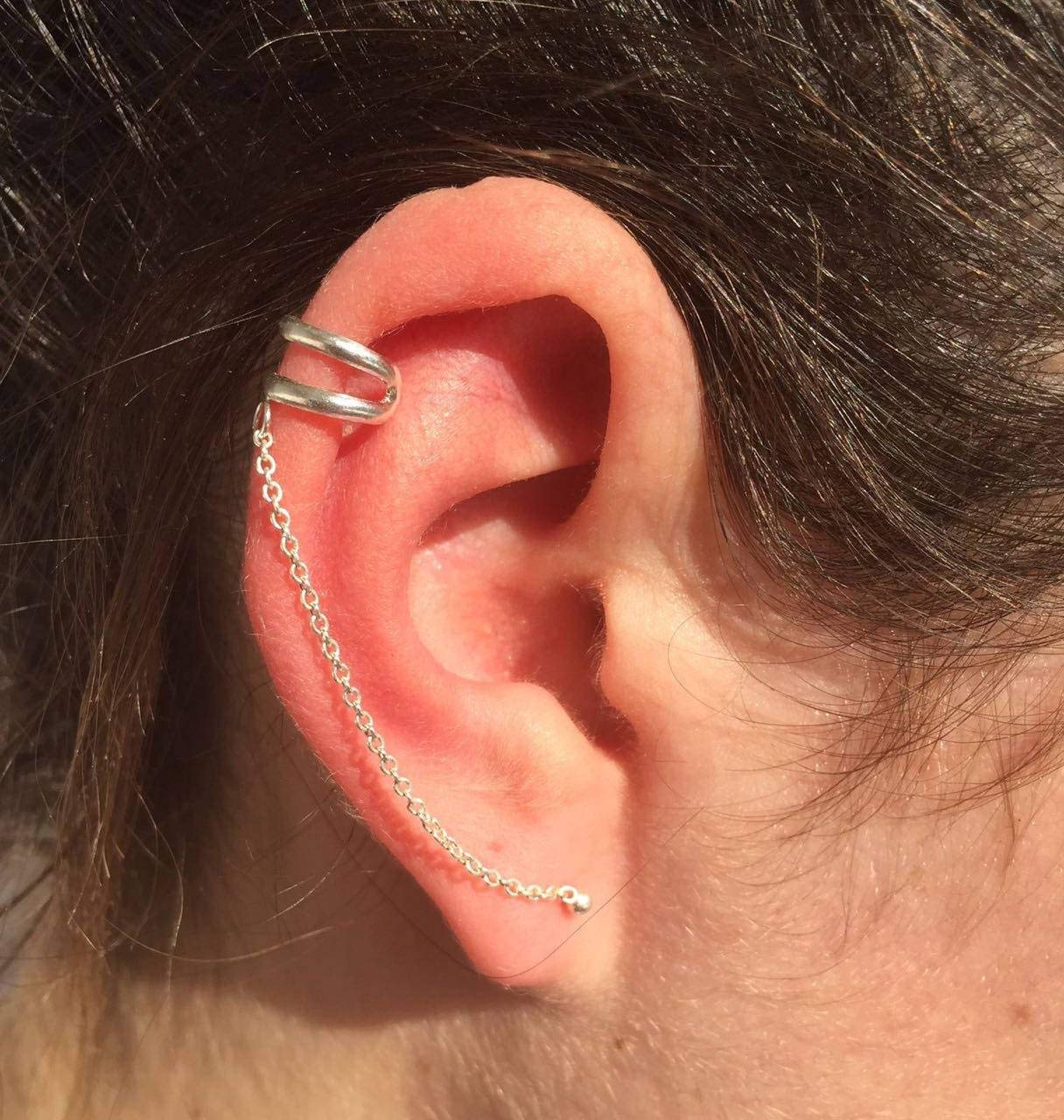 Get Quotations Silver Ear Cuff Climber Earrings Wrap Earcuff Jewelry