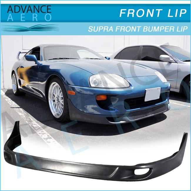For 93-98 Toyota Supra MK4 Front Bumper Body Lip Kit Polyurethane PU TRD Style