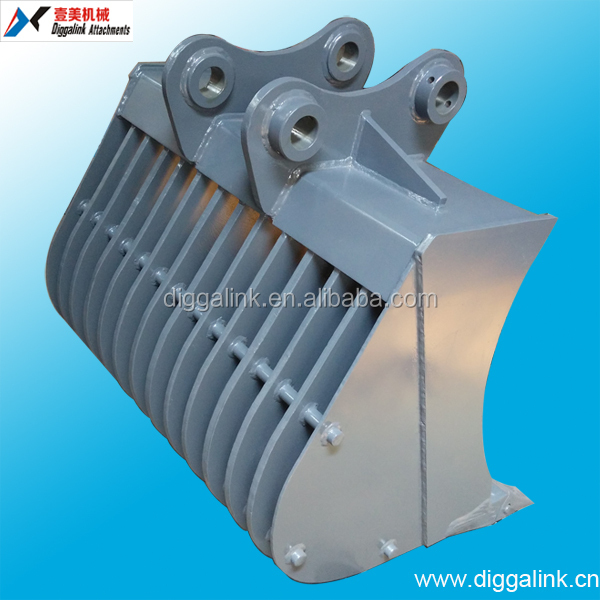 excavator parts of screening bucket