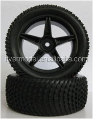 1/ 10 RC buggy car tires and wheel rims