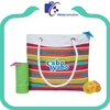 Women canvas beach tote bag with rope handle