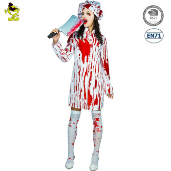 Bloody Chef Costume Sexy Bloody Butchers Lady Dress For Halloween Party Cosplay  sc 1 st  Alibaba : chef halloween costumes  - Germanpascual.Com