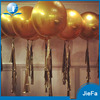 Large Size Golden Latex Balloons With Golden Tissue Paper Tassels, 100Packs