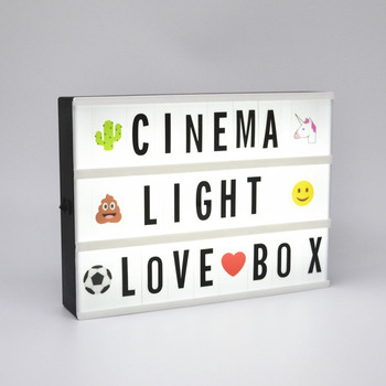 A4 Small Led Light Letter Boxliving Retro Cinematic Light Up Your
