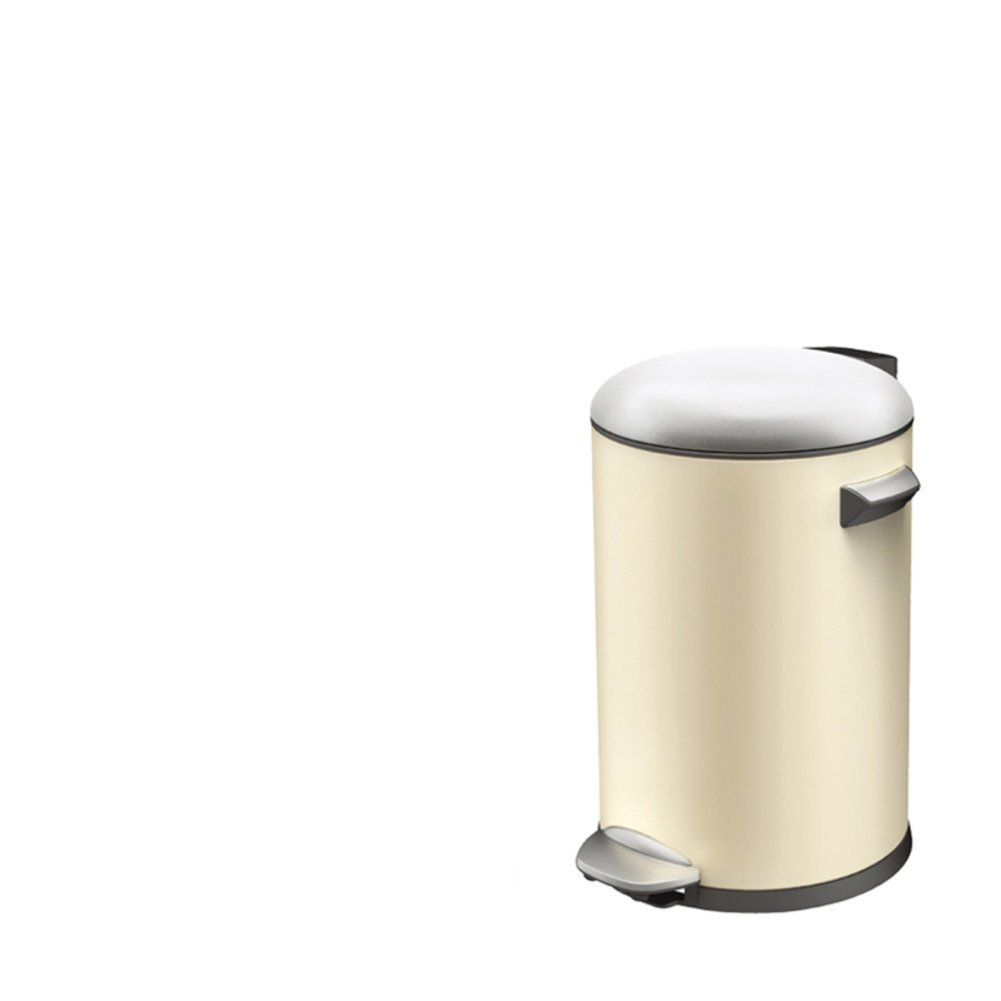 Creative simplicity home living room trash can/European-style kitchen/ bathroom trash can with lid-D