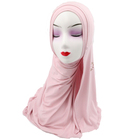 most beautiful Arab Hijab with stone decorated Middle East Muslim Scarf 0319061