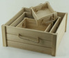 New designed environmental unfinished storage wooden fruit crate with hand holes