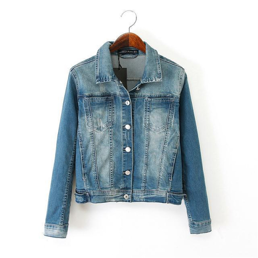2015 new arrical sexy jackets women short solid slim denim jacket casual turn-down collar denim jackets outwear and coats