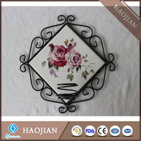 wrought iron wall candle holder classic candle holder with special edge design