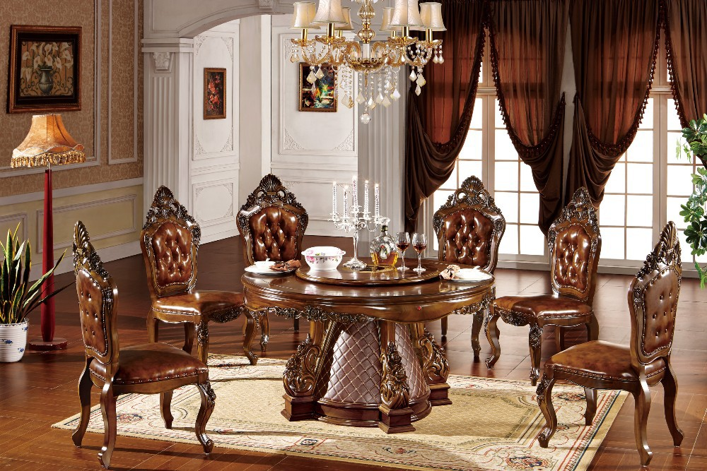 Hand Carved Dining Table Set