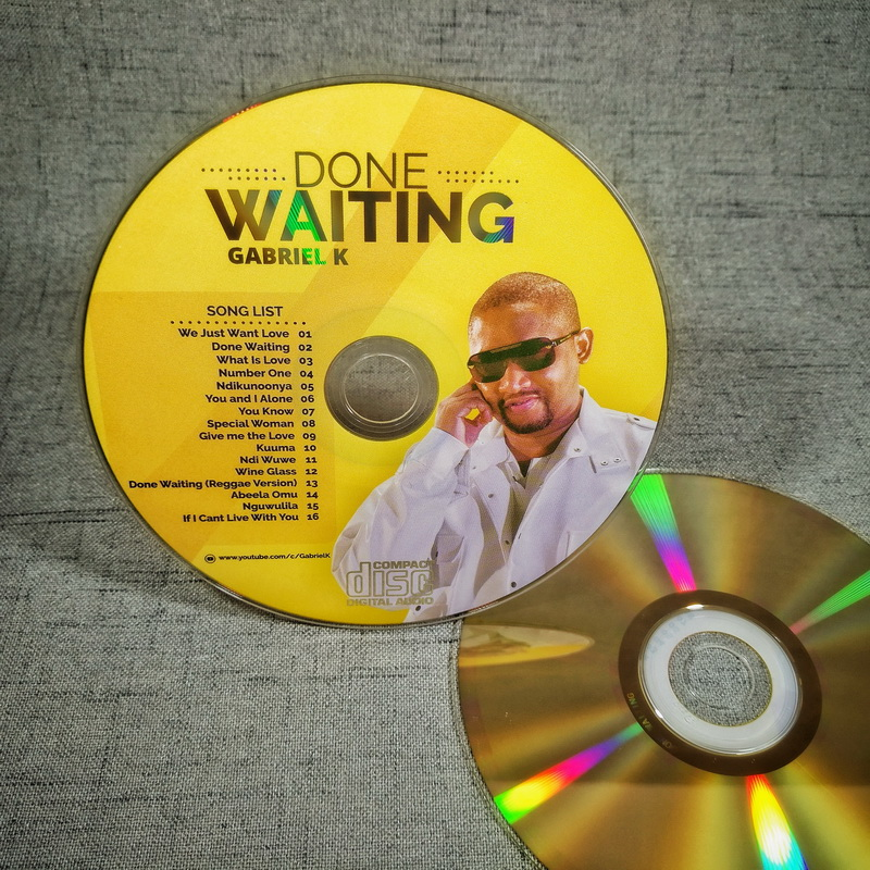 Gold Music CD Replication Duplication in CD wallet