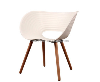midcentury style molded plastic side wood leg base white shell chair