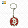 wholesales promotional custom soft enamel round metal trolley coin keychain