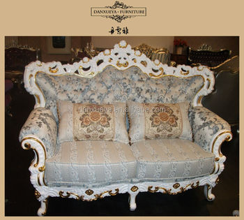 Carved Wood Frame High Back French Style Sofa Set Buy Luxury
