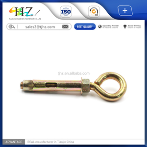 Hardware supplies Zinc Plated Sleeve Anchor Bolt Type with O Hook  4 8/8 8/10 9/12 9