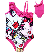 Monster High Baby Girl Swim Wear 2015 Summer Girls Clothes Children s Clothing Cute Swimsuit for
