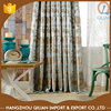 Blue patterns blackout jacquard turquoise and brown curtains
