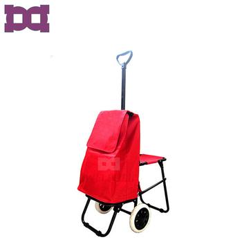 Ada Roda Lipat Grocery Belanja Trolley Tas dengan Roda dengan Kursi Kursi fe712685ca
