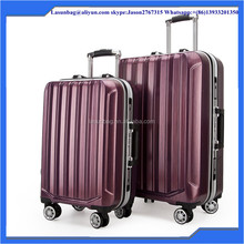 2015 Aluminum alloy wheels Red Wine durable Travel Trolley Luggage Bags Suitcase