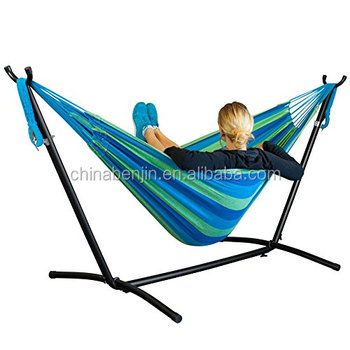 Indoor Outdoor General Use Spring Camping Hammock Stand Portable Swing Chair