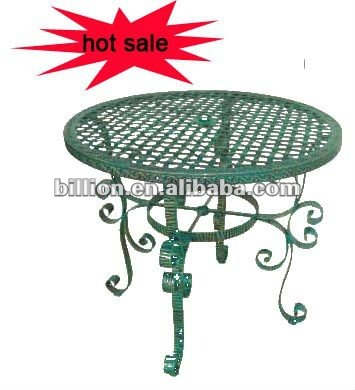 2011 new china hebei factory outdoor antirust table wrought iron for garden