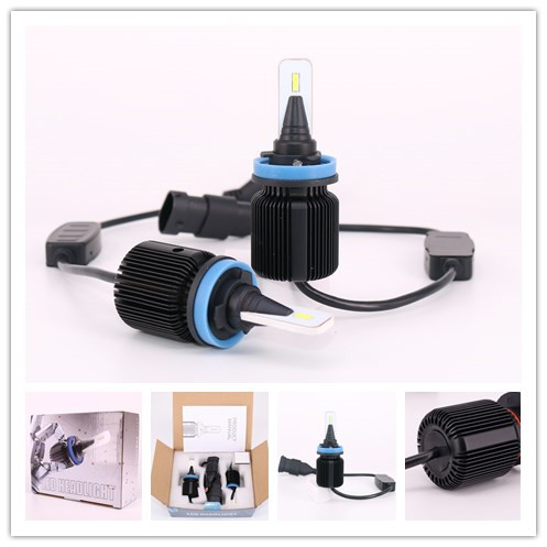 Anycar J1 CSP 12v h8 h11 led fanless automotive car headlamp bulb 2019
