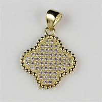 New Cheap Italian Costume Jewelry Women Gold Tone Pendant Necklace with Micro Pave Crystal Stones