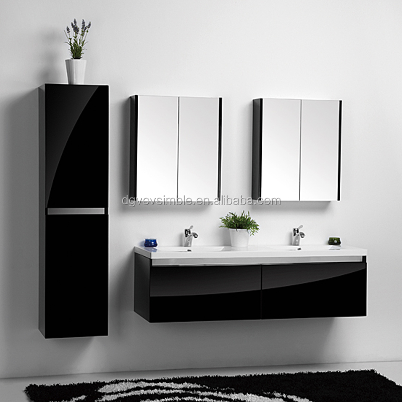 New Product Glossy Black Wall Mounted