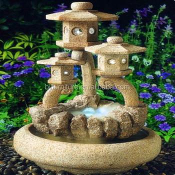 Outdoor Waterwheel Garden Stone Fountain Decorative Garden Waterfall