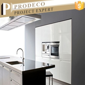 High Gloss White Kitchen Cabinets Design With Melamine Board On  Particleboard/plywood/mdf Metro