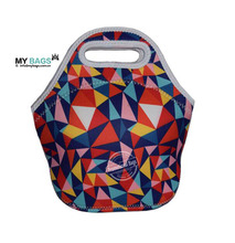 "Neoprene Lunch Bag Large12"" x 12"" x 6.5"" Gourmet Lunch Tote Insulated Waterproof Lunch Bags"