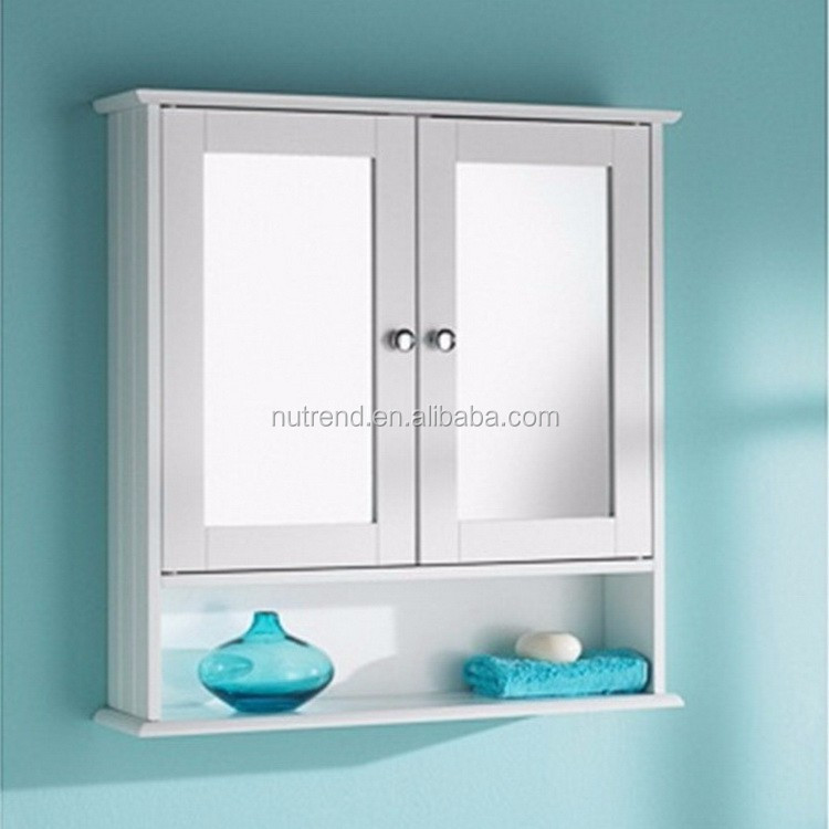 en bois suspendus armoire murale avec miroir design pour salle de bains meuble lavabo de salle. Black Bedroom Furniture Sets. Home Design Ideas