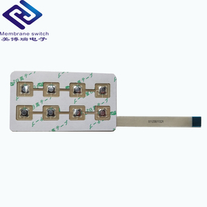 One Key Button Assembly PCB Circuit Board Metal Dome Membrane Switch/ Keypad/Keyboard With Two Cable Wire