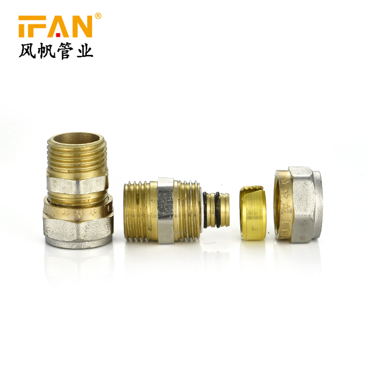 Wholesale Pex Pipe Fittings IFAN Super 1/2 3/4 1inch Male Coupling Male Thread Socket for PEX Pipe