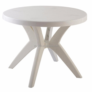 Round Folding Latest Designs of Plastic restaurant Dining Table
