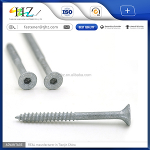 China supply Bugle Head With 2 Rib Socket Drive Type-A Thread Type-17 Batten Self Tapping Screw