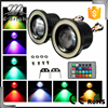 "3"" inch /3.5"" inch 3200Lm RGB LED COB Projector Fog Light with Angel Eyes Halo Ring Car Auto 12V Wireless Control"