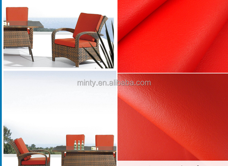 pvc artificial leather for outdoor leather furniture hotel sofa