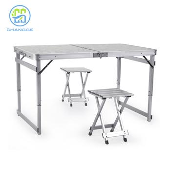 Beau Adjustable Height Outdoor Metal Folding Table Legs