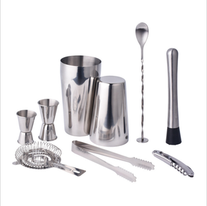Wholesale Restaurant Bar Used bartender tools Stainless Steel copper cocktail Martini shaker bar tool set