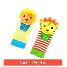 Рождественский подарок, детские игрушки-погремушки, игрушки с животными, носки для новорожденных 0-12 месяцев, ремешок на запястье с погремуш...(China)