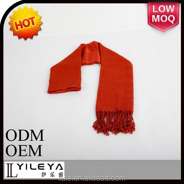 2015 red feeling lady pashmina scarf with fringes