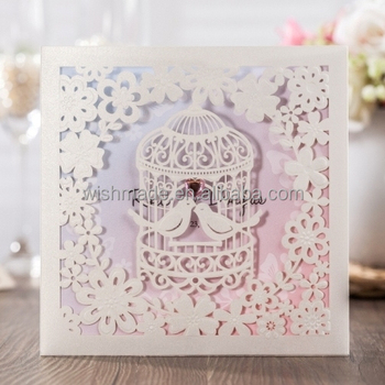 Wishmade card shanghai co ltd paper product wishmade unique wedding invitations card kit laser cut birdcage for engagement party cw6113 stopboris Image collections