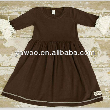 New Style Long Sleeve Trendy Lace Ruffle Maxi Dress For Baby Girl