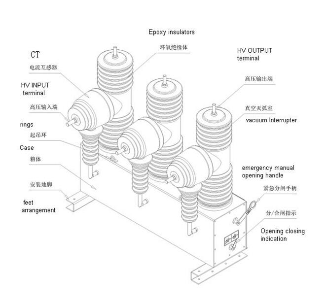 medium voltage outdoor ac sf6 11kv 24kv 33kv circuit breaker  view 33kv vacuum circuit breaker