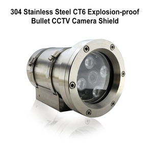 304Stainless Steel CT6 Explosion-Proof Vandal-Proof IP68 Protection Grade CCTV Security Camera Shield Housing