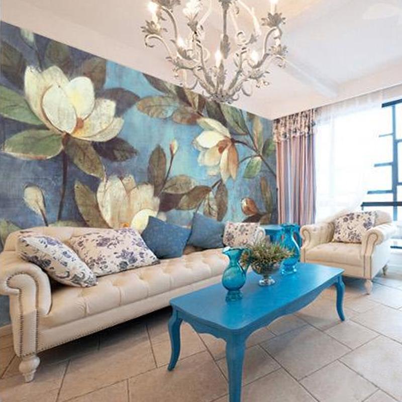 Cool pittura a olio europea il soggiorno carta da parati - Pareti particolari per camere da letto ...