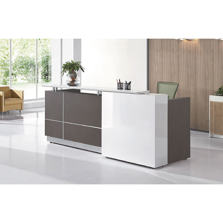 Frank Tech Modern Office Front Counter reception desk table l shaped front office salon reception counter