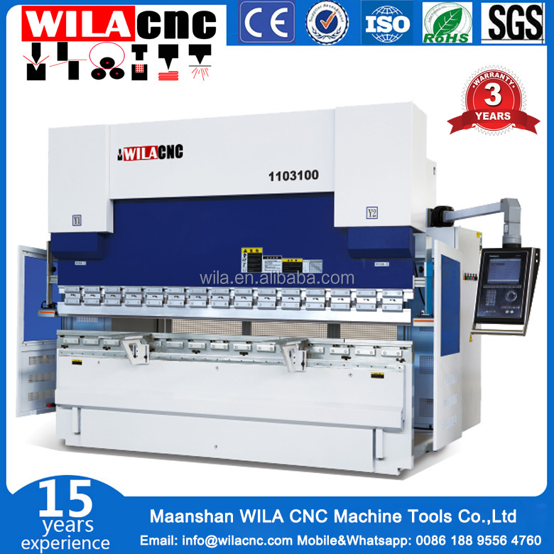 Advanced design W67Y-100T/3200MM E21 control system hydraulic CNC steel plate bending machine /used press brake